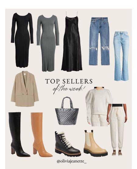 Top sellers of the week! ❤️  Denim, dresses, Nordstrom, blazer, workwear, H&M, MZ Wallace, boots, sweat suit, booties, shoes  #LTKworkwear #LTKunder50 #LTKunder100