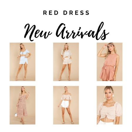 Rompers, dresses and sets from Red Dress. Crop top and white shorts http://liketk.it/3hKgP #liketkit @liketoknow.it #LTKunder50 #LTKtravel #LTKstyletip
