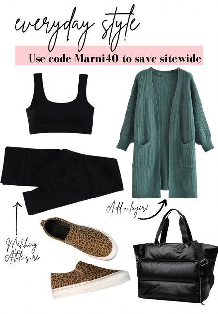 Causal street style 🍂 use code Marni40 to save site wide!   #LTKstyletip #LTKfit #LTKSeasonal