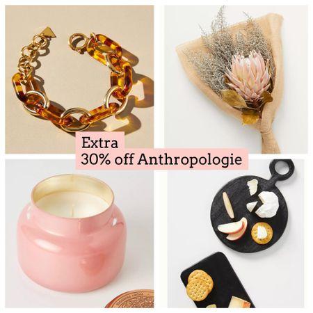 Anthropologie extra 30% off sale items   #LTKGiftGuide #LTKsalealert #LTKunder50