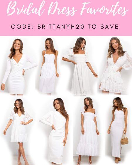 Code: BRITTANYH20 to save 🤍 . . .  http://liketk.it/3hamb #liketkit @liketoknow.it #LTKwedding #LTKunder50 #LTKunder100 wedding, white dress, white dresses, bride dresses, bridal, spring dress, spring dresses