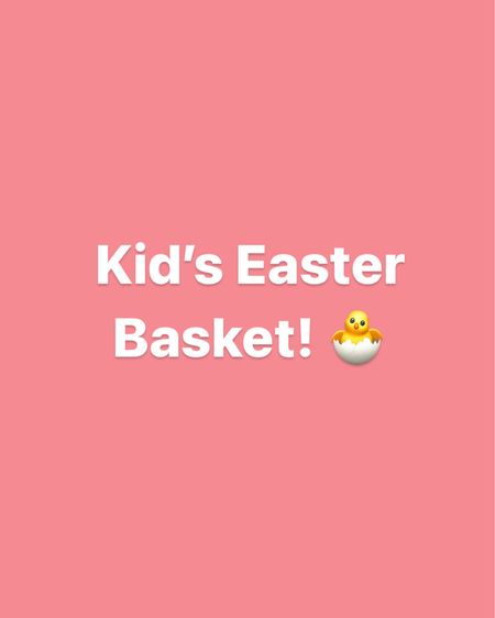 Kid's Easter basket ideas! This is what I got my 4-year-olds for Easter 🐣 http://liketk.it/3bsg3 #liketkit @liketoknow.it #LTKunder50 #LTKkids #LTKfamily