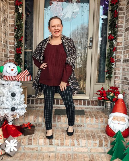 Leopard and Plaid Festive #ootd  Download the LIKEtoKNOW.it shopping app to shop this pic via screenshot @liketoknow.it http://liketk.it/2HLzO #liketkit #LTKholidaystyle #LTKholidayathome