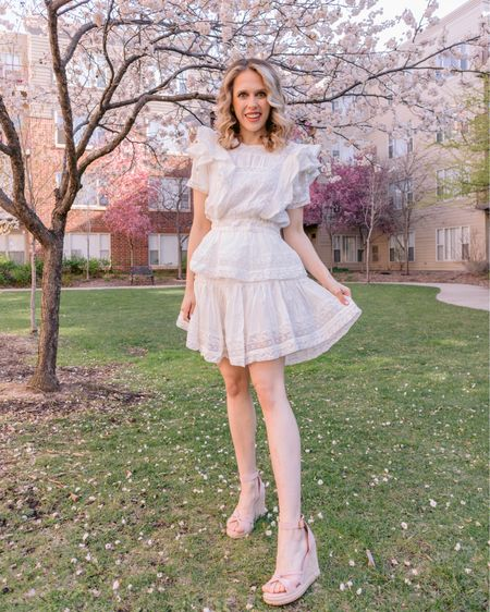 For the frill of it all 🌸 My love of LoveShackFancy far exceeds my budget, but this @chicwish dress gives the same unabashedly feminine look for less! The ruffles, lace & crochet detailing, and tiered skirt is just so darling! Who else loves a LoveShackFancy-inspired look for less? . . . You can shop this look by going to the link in my bio or by following me in the @liketoknow.it app 🌸🌿✨ http://liketk.it/3efuU #liketkit #LTKunder100 #LTKwedding #LTKsalealert