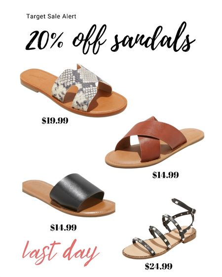 Last day to save 20% at target on sandals!  Some great dupes and great savings!  Follow me on the LIKEtoKNOW.it shopping app to get the product details for this look and others http://liketk.it/3gpzG @liketoknow.it @liketoknow.it.family #liketkit #LTKfamily #LTKshoecrush #LTKsalealert