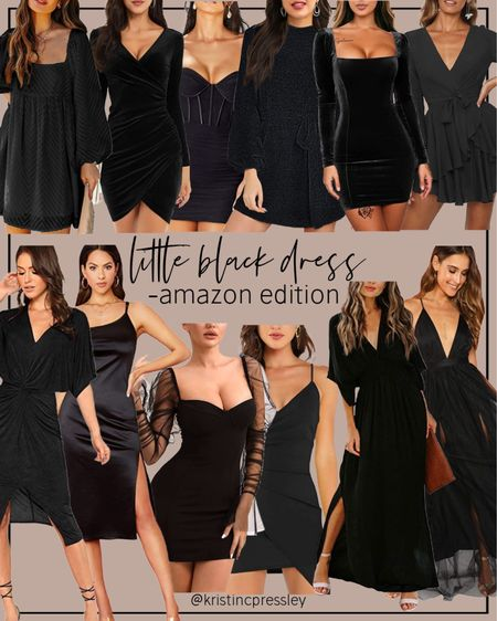 Little black dresses all from Amazon