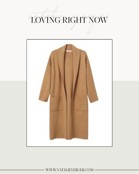 One of my favorite coatigans is back in stock! Fits oversized. I wear size S.  Tags: Oversized Coat with Pockets, Mango Coatigan, Mango Coat, Cardigan Coat, Camel Coatigan, Coatigan