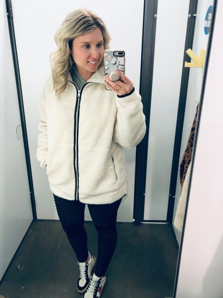 I'm here for anything Sherpa 👏🏻👏🏻. This @oldnavy jacket is no exception. I love the cream color and that it's a longer length. It looks great paired with leggings and sneakers. ❤️👟 • •  http://liketk.it/31Mgq  Shopping link in profile! ❤️ I would love to have you follow me on @liketoknow.it  • •  #liketkit  • •  Download the LIKEtoKNOW.it shopping app to shop this pic via screenshot  • •  #LTKstyletip #LTKcurves #LTKunder50