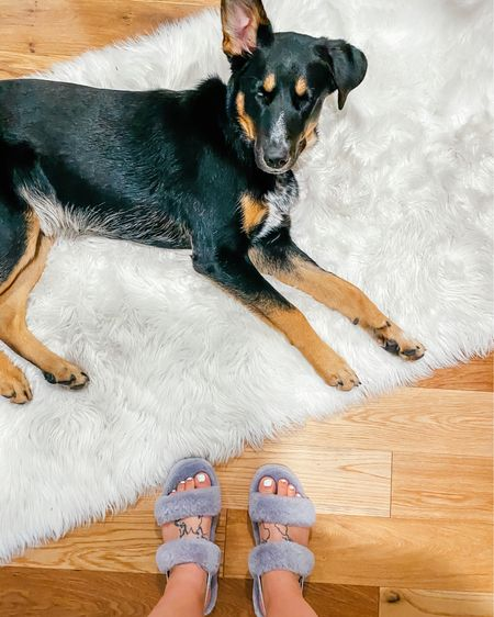 Cozy slippers for mom. Cozy rug for Bauer. ❤️   http://liketk.it/35X9e #liketkit #LTKunder100 #StayHomeWithLTK #LTKshoecrush @liketoknow.it @liketoknow.it.home    Download the LIKEtoKNOW.it shopping app to shop this pic via screenshot