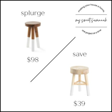 Serena and Lily or less than half the price on this dip dip dyed stool? Splurge or save.   #LTKsalealert #LTKhome