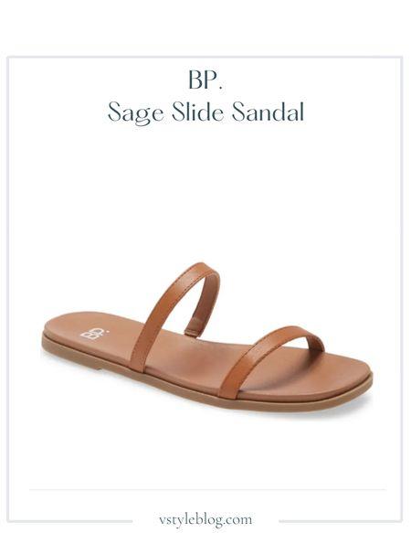 Nordstrom sale, Sandals, Summer outfits, Sale alert  BP. Sage Slide Sandals (was $29.95 - $39.95, now $19.90 - $29.90)  #LTKunder50 #LTKsalealert #LTKshoecrush