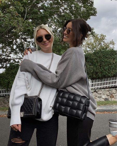 matching in one of our favorite sweaters 🤍 linking these looks + more from @nordstrom here #nordstrom ad    #LTKSeasonal #LTKstyletip