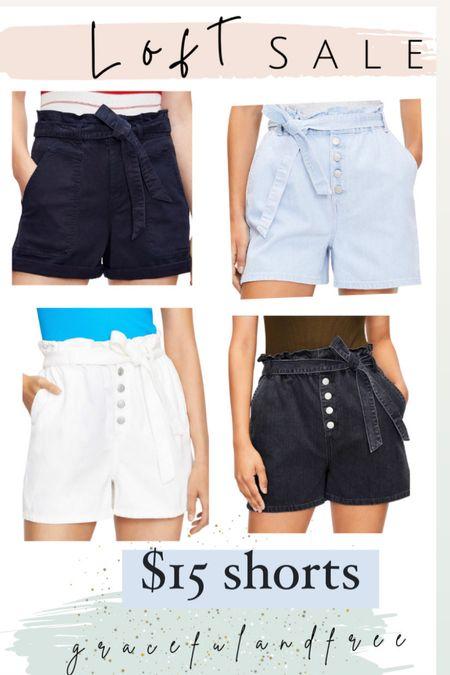 Sale alert $15 shorts Loft   #LTKstyletip #LTKunder50 #LTKsalealert