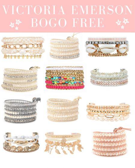 Victoria Emerson BOGO free 😍 . . .  http://liketk.it/3i5kL #liketkit @liketoknow.it #LTKsalealert #LTKstyletip #LTKunder50 bracelets, gold bracelets, wrap bracelets, summer, jewelry