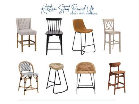 Affordable and kid friendly counter stools are an easy kitchen update.  Kitchen stools, counter stools, kid friendly, kitchen island, kitchen seating, kitchen decor  #LTKhome