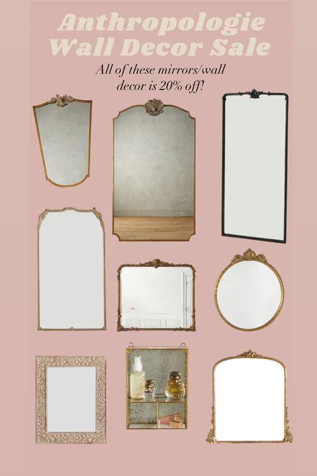 Anthropologie 20% Mirror and Wall Decor Sale!   #LTKhome #LTKsalealert