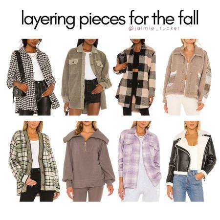 Overshirts and Layering Pieces for Fall! | #fallouterwear #layeringpieces #fallbasics #falljackets #falloutfits #JaimieTucker   #LTKstyletip #LTKSeasonal #LTKworkwear
