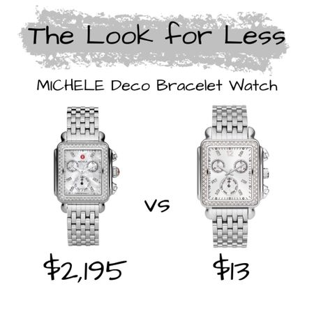 *NEW* #ONTHEBLOG   The Look for Less: MICHELE Deco Bracelet Watch. You'll never guess where I found this look for less. Get the deets at frugalshopaholics.com {CH 👸🏾}  Follow me on the @liketoknow.it  shopping app to get the product details or on our 'Shop Instagram' page in the bio.   Direct Link: http://liketk.it/2SEbu #liketkit