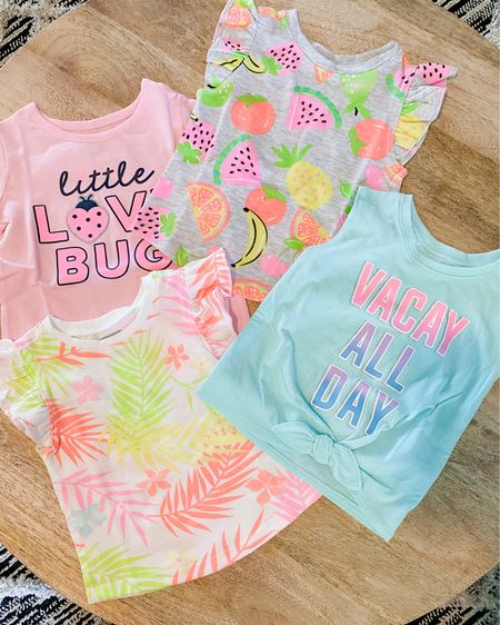 Walmart has such cute little girl summer clothes right now for so inexpensive. All these Tees were only $3!    #liketkit http://liketk.it/3ewLB @liketoknow.it #LTKsalealert #LTKbaby #LTKkids