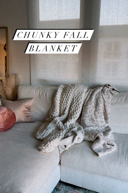 I love this chunky fall blanket and it's on sale!   #LTKsalealert #LTKunder100 #LTKhome