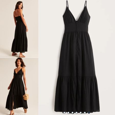 Perfect black dress for a wedding or a special occasion.  #abercrombie   #LTKstyletip #LTKwedding #LTKunder100