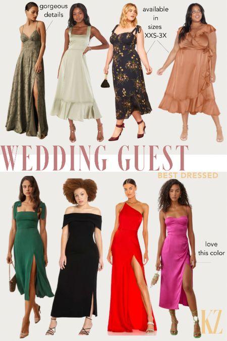 Wedding Guest Dress Options - Formal Occassion Dresses for all sizes   #LTKwedding #LTKcurves #LTKstyletip