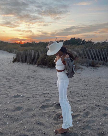 Sunset pic & white outfit   #LTKunder50 #LTKbeauty #LTKstyletip