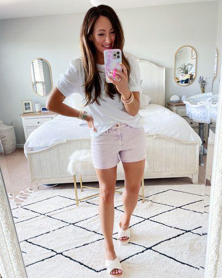 • medium tee • shorts tts - in a size 4 • sandals tts   http://liketk.it/3hJ3e #liketkit @liketoknow.it