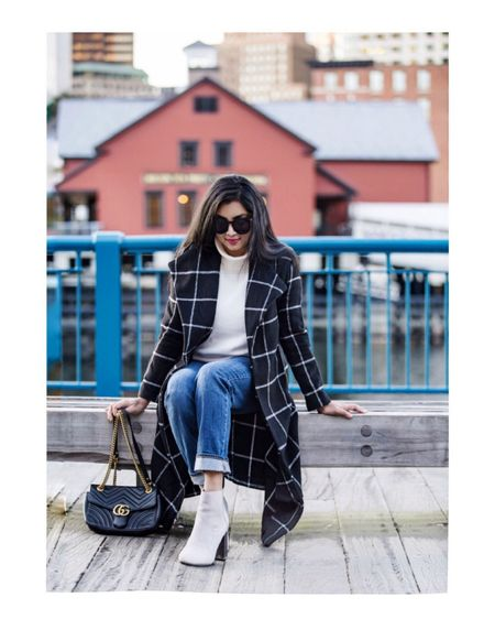<Grid coat> One of my favorite winter staples and wardrobe go-to!❤️  Happy weekend!😘 Outfit details- http://liketk.it/2zh4R #liketkit @liketoknow.it