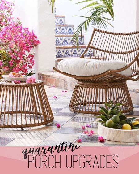 Porch furniture sale to upgrade your outdoor living situation for quarantine ❤️ the cutest boho porch furniture for 20% off #StayHomeWithLTK #LTKspring #LTKhome http://liketk.it/2N2pa #liketkit @liketoknow.it
