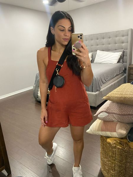 Target fashion Romper Jumpsuit Summer style Summer outfit Crossbody bag Amazon find Sneakers