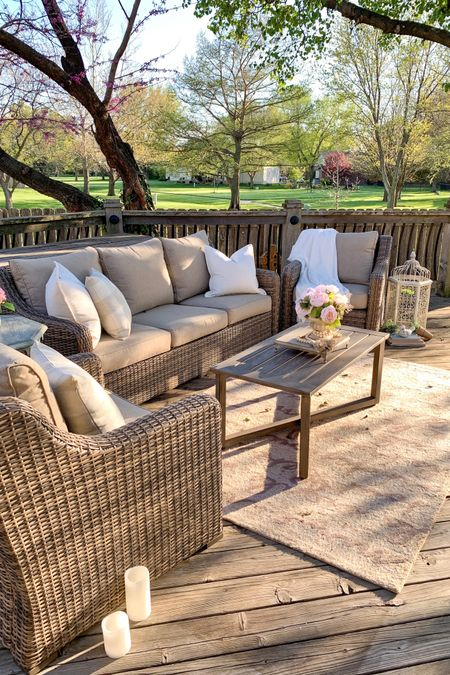 Create your Dream Patio — all while staying on budget!🌿🌿🌸  This four piece wicker patio set from BHGLiveBetter is an amazing value for the price, comfortable and extremely resilient to the elements! (we've owned this set for over four years & it's holding up so well)!!   Conversation Patio Set     http://liketk.it/3eVEi #liketkit @liketoknow.it.home @liketoknow.it Shop my home and recommendations by following me on the LIKEtoKNOW.it shopping app 🌸💖  #LTKsalealert #LTKhome #LTKfamily