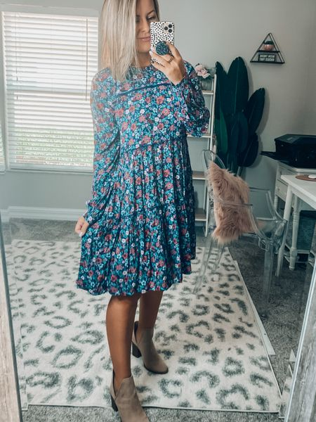 This printed dress is perfect for all your fall activities! 🍂   #LTKstyletip #LTKSeasonal #LTKunder50