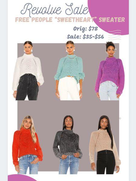 Free People Sweetheart Sweater. Ribbed knit. #revolve   #LTKsalealert #LTKunder50 #LTKstyletip