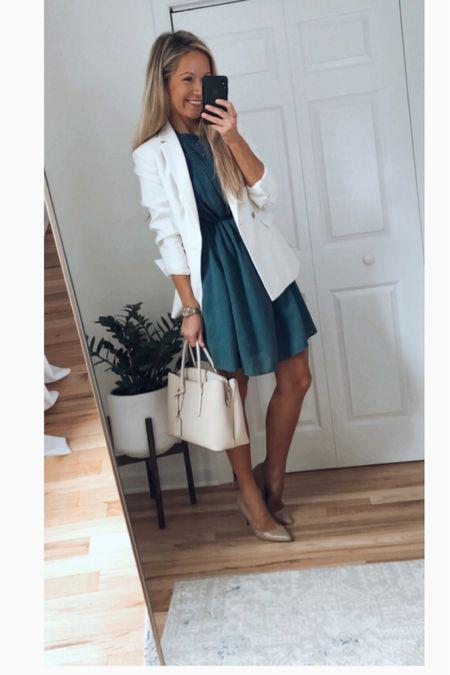 Business casual outfit Loft dress   #LTKunder100 #LTKworkwear #LTKstyletip