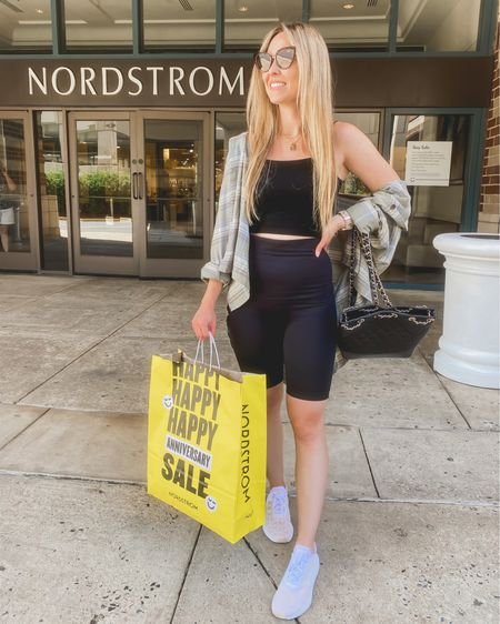 It's finally time for the #nsale aka Christmas in July!!! My flannel, leopard adidas and Quay sunglasses were all some my top picks 💗 I've linked these along with some of my other favorites in my bio, and I will keep covering the sale! It opens to all Nordstrom cardholders on Friday the 16th and it opens for public access July 28th 😊 http://liketk.it/3jCbi   #liketkit @liketoknow.it