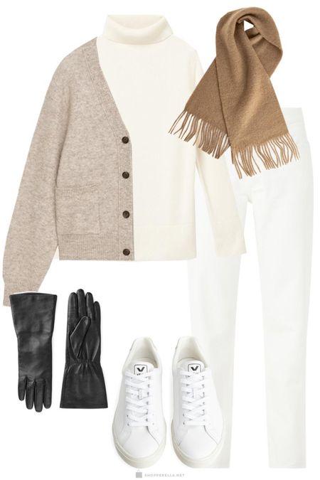 Winter whites look | knitwear | winter ootd | boots | gloves | outfit inspo http://liketk.it/35kqZ @liketoknow.it #liketkit #LTKstyletip