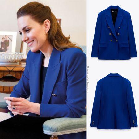 Kate wearing Cobalt Zara blazer http://liketk.it/3eABe #liketkit @liketoknow.it #professional #jacket #coat #business #interview #ootd #LTKeurope