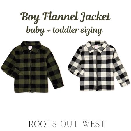 Boy flannel jacket. Under $13!  #LTKfamily #LTKkids #LTKSeasonal