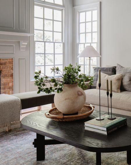 Living Room Furniture, Home Decor, Coffee Table, Candlesticks, Vase, Bench   #LTKhome