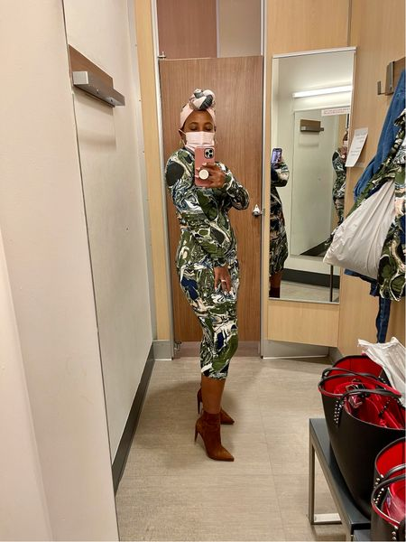 Target Fall Designer Collection marble print turtleneck marble print pencil skirt #targetstyle all styles fit true to size brown booties  #LTKSeasonal #LTKstyletip