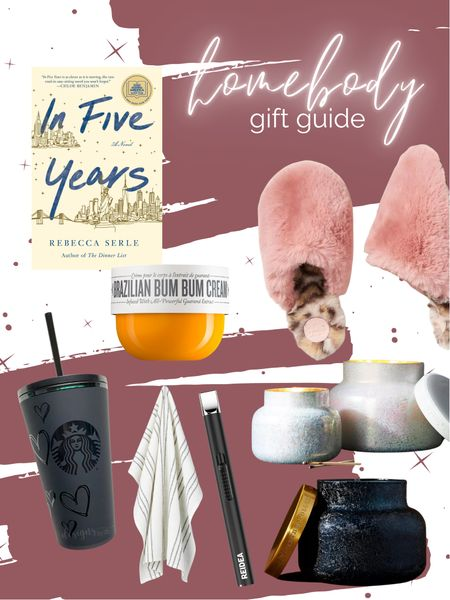 Practical gifts for the cozy friend Candles Capri blue volcano Anthro Fuzzy scuff slippers USB lighter Custom Starbucks tumbler Flour sack towel   #LTKGiftGuide #LTKunder50 #LTKHoliday
