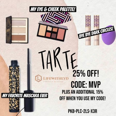BIG NEWS! Tarte is doing a 25% for today only!  If you use my link & the referral code, you get an additional 15% off. This is an excellent deal. Don't miss it y'all. Get you shape tape TODAY.   PS ITS THE BEST CONCEALER FOR ALL YOU TIRED MOMMAS OUT THERE. COVERS IT ALL 😅😝   #liketkit @liketoknow.it http://liketk.it/37Okc