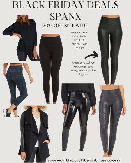 Black Friday and cyber Monday picks from spanx - 20% off sitewide (the spanx leather leggings are a must!) http://liketk.it/32kBU #liketkit @liketoknow.it #LTKunder100 #LTKsalealert #LTKgiftspo