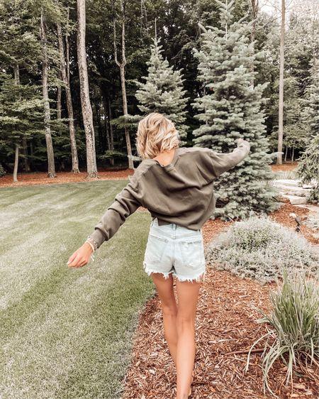 V-neck sweater from BP on sale in the Nordstrom anniversary sale #nsale Nordstrom finds Fall trends wear it now Abercrombie jean shorts   http://liketk.it/3jE4L #liketkit @liketoknow.it #LTKstyletip #LTKsalealert