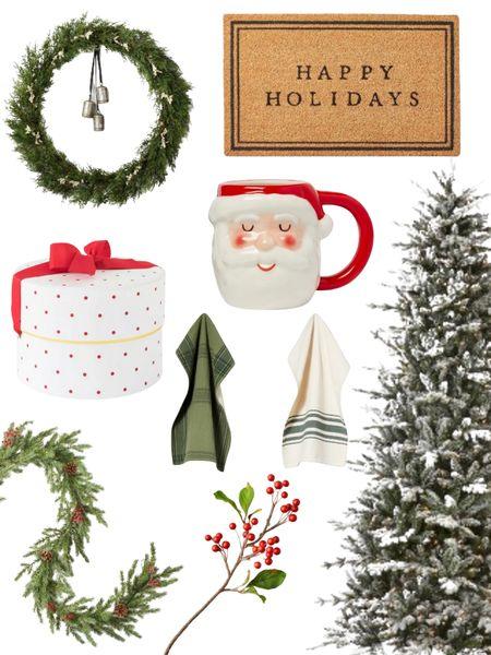 Target Christmas decor           Holiday shopping , target Christmas , target style , target finds , flocked tree, Christmas tree, garland , wreath , hearth and hand , home decor , holiday decor , Christmas decor , #ltkunder50 #ltkcyberweek  #LTKHoliday #LTKSeasonal #LTKhome