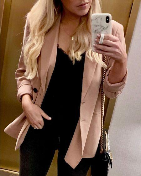 Fall Blazer, Work Outfit Idea or Chic Date Night Outfit  #LTKworkwear #LTKSeasonal #LTKunder100