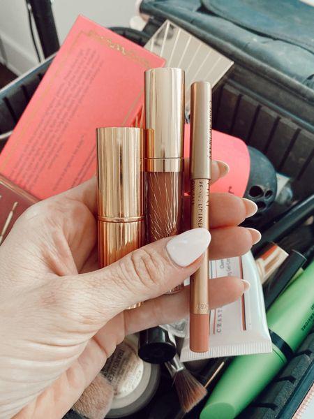 Lip Combo of the day:  Lipstick: Pillow Talk Nude  Lip Liner: Pillow Talk Original  Lip Gloss: Pillow Talk    #LTKbeauty #LTKunder50 #LTKstyletip