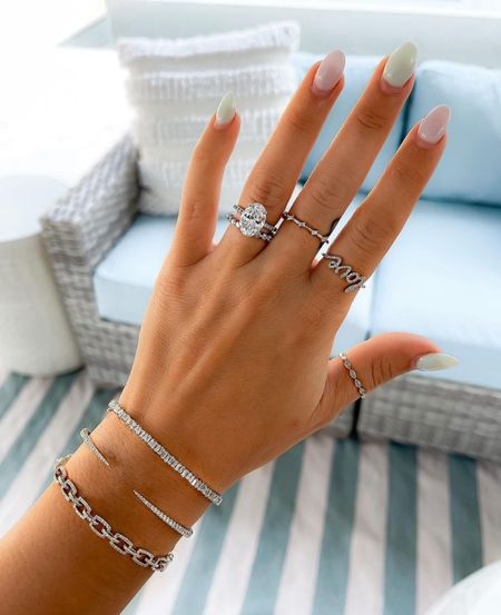 Ring concierge diamond bracelets & rings  #jewelry #laurabeverlin  #LTKunder100 #LTKsalealert #LTKunder50
