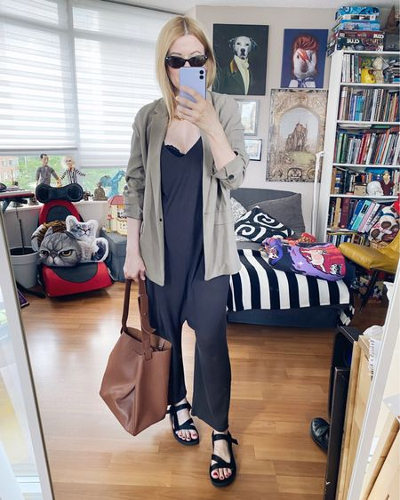 I haven't used this bag in a while and I found some money in it. That was cool. • • •  http://liketk.it/3jIZb   #liketkit @liketoknow.it . . .  #jumpsuit #SummerLook #dadSandals #blazer #StyleOver40  #blackJumpsuit  #theGreat #chanelSunglasses  #JennyBird #everlaneBag #StayAtHomeMomStyle  #FashionOver40 #HighStreet #OutfitIdeas #MumStyle #summerBlazer #WhoWhatWearing #Over40Style #40PlusStyle #Stylish40s #HighStreetFashion #StyleIdeas #TorontoBloggers #DailyOutfits